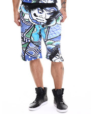 Buyers Picks - Shogun Vintage print  drawstring shorts