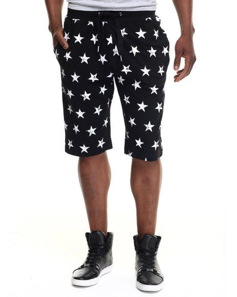 stars & stripes mix drawstring shorts