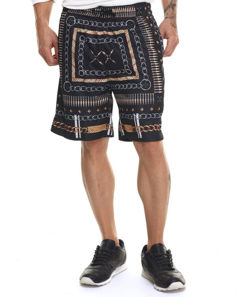 Buyers Picks - Men Black Bullet Chains Mesh Shorts - $16.99