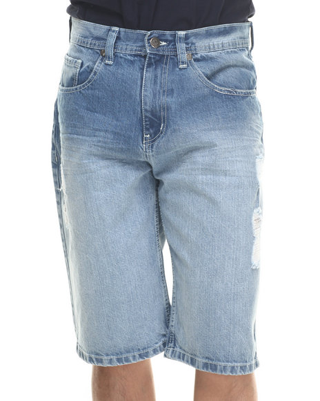 Akademiks Medium Wash Shorts