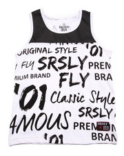 Tops - SRSLY FLY GRAFFITI LOGO TANK (8-20)