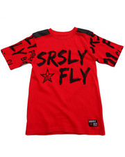 Tops - SRSLY FLY GRAFFITI LOGO TEE (8-20)
