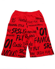 Boys - SRSLY FLY GRAPHIC FRENCH TERRY SHORTS (8-20)