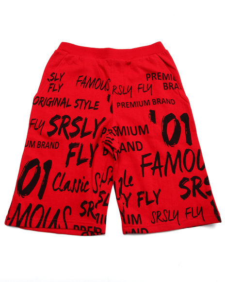Srsly Fly Red Shorts