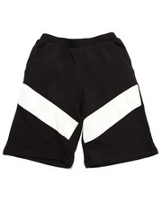 Shorts - FRENCH TERRY SHORTS W/ NET OVERLAY (8-20)