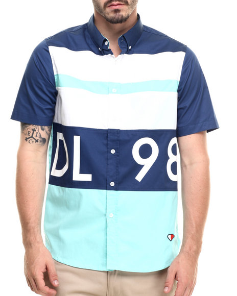 Diamond Supply Co - Men Navy Dlyc S/S Button-Down