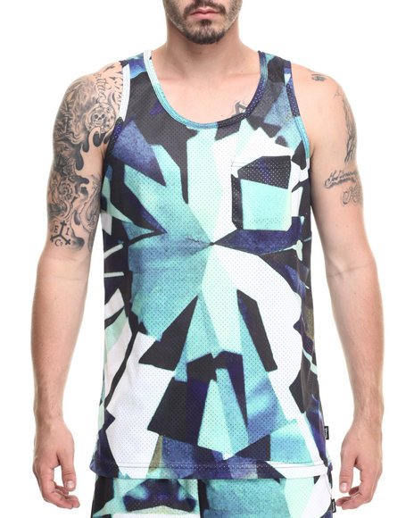 Diamond Supply Co - Men Blue,Green Simplicity Basketball Jersey