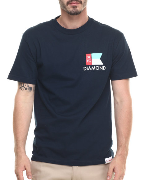 Diamond Supply Co - Men Navy Yacht Flag Tee
