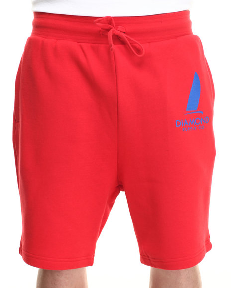 Diamond Supply Co Red Shorts