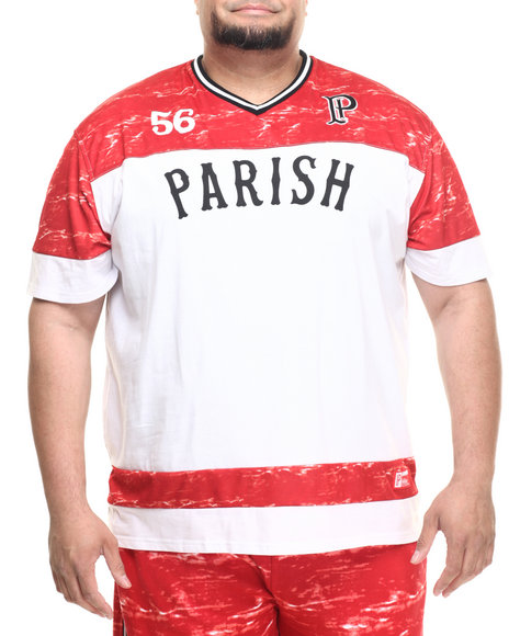 Parish - Men Red V-Neck Football Jersey (B&T)