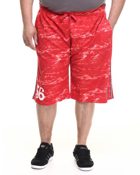 Parish - Men Red Printed Sweatshort (B&T)