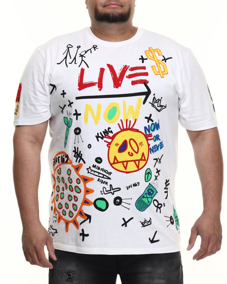 Akademiks - Men White Live Now S/S Tee (B&T)