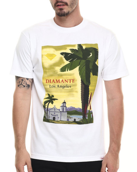Diamond Supply Co - Men White South Of The Border Tee - $27.99