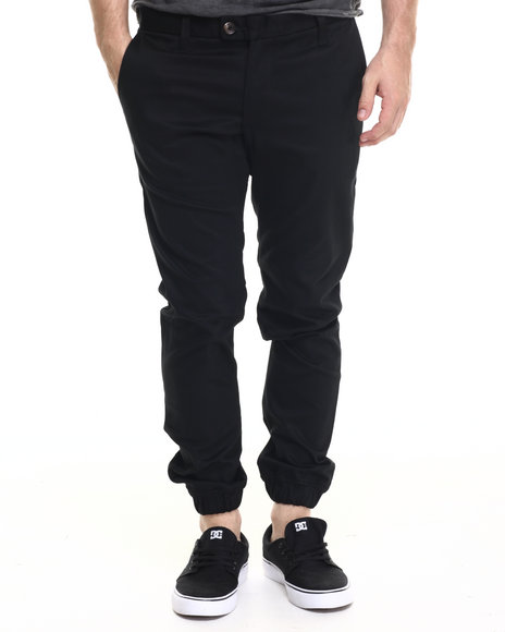 Diamond Supply Co Men Diamond Mined Jogger Slim Fit Pants Black 34