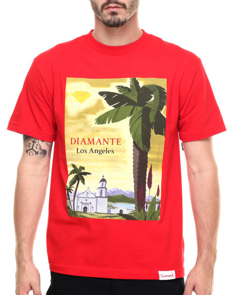 Ur-ID 218874 Diamond Supply Co - Men Red South Of The Border Tee