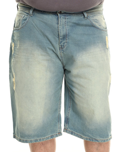Akademiks - Men Vintage Wash Jeffry Denim Shorts (B&T)