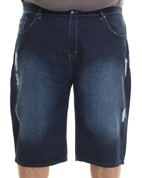 Akademiks - Men Dark Wash Jeffry Denim Shorts (B&T)