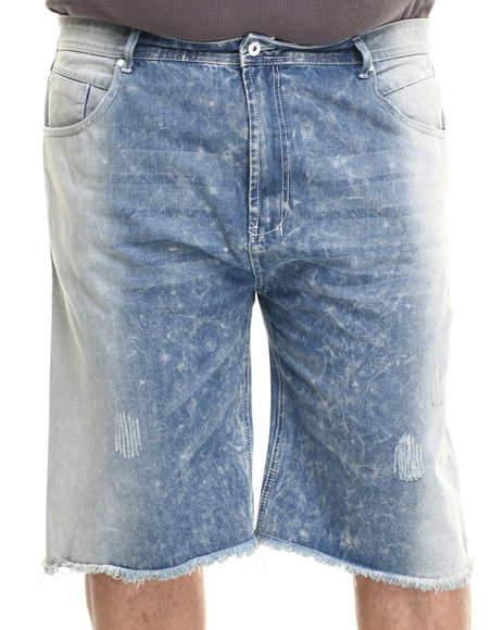 Parish - Men Light Wash Bleach Wash Denim Shorts (B&T)