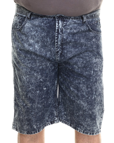 Parish - Men Dark Wash Acid Wash Denim Short (B&T) - $32.99