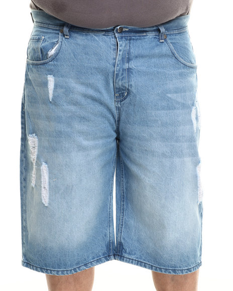 Akademiks - Men Medium Wash Hart Denim Short (B&T)