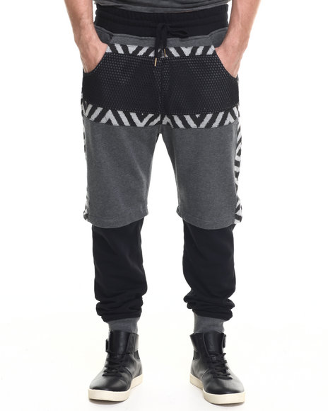 Allston Outfitter - Men Black Mesh Covered Sweatpant