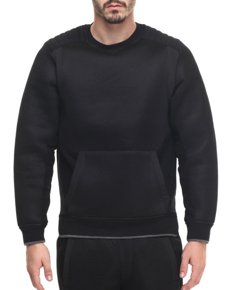 Allston Outfitter - Men Black Scuba Double Mesh Sweatshirt