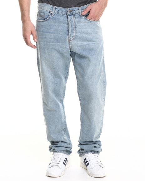 Ur-ID 218845 Diamond Supply Co - Men Light Wash Diamond Mined Denim Classic Fit Jeans