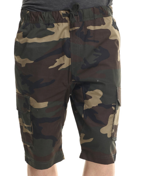 Buyers Picks - Men Camo Cargo Twill Shorts