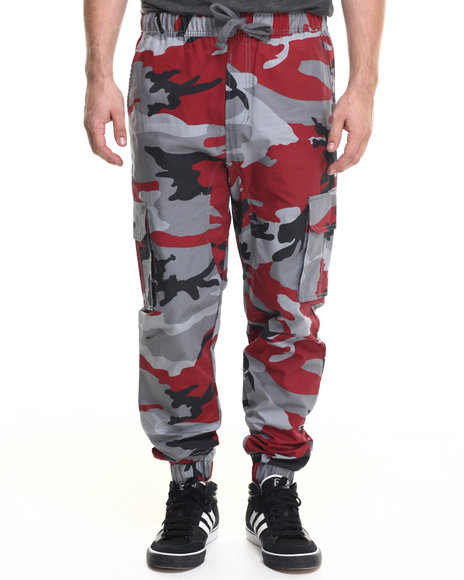 Buyers Picks - Men Camo,Red Camo Twill Jogger Pants