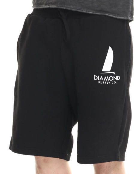 Diamond Supply Co - Men Black Boat Life Sweatshorts - $32.99