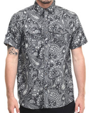 Buyers Picks - Light Denim Paisley s/s button down shirt