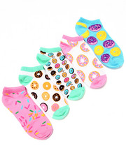 Girls - Donutty 5Pk No Show Socks
