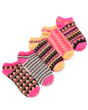 Girls - Mendhi Gold 5Pk No Show Socks