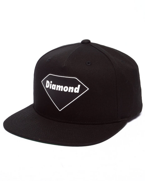Diamond Supply Co Men Diamond Basic Snapback Cap Black - $25.99