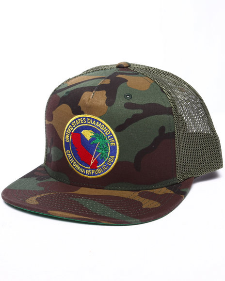Diamond Supply Co Men Diamond Republic Snapback Cap Camo - $32.99