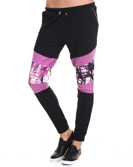 Ur-ID 218806 Lady Enyce - Women Black,Purple Skinny French Terry Jogger