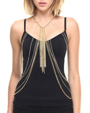 Jewelry - Body Chain Fringe & Drape Necklace