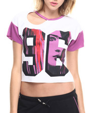 Tees - Cut-Out Cropped Tee