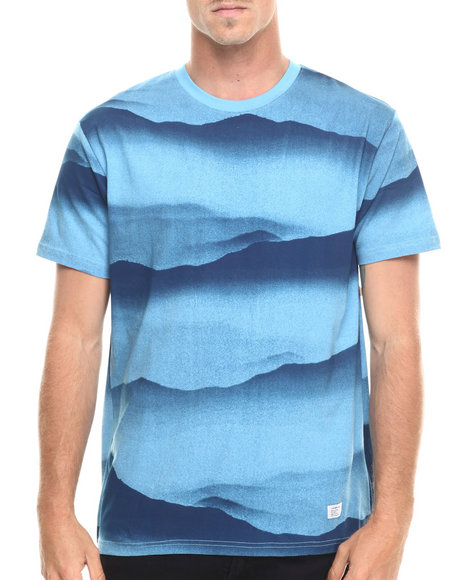 Ur-ID 218889 Akomplice - Men Blue Freedom Mountain Allover Tee