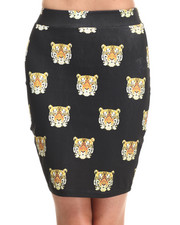 Women - Tiger Midi Skirt