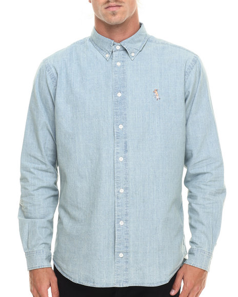 Ur-ID 218913 Akomplice - Men Light Blue Olop L/S Button-Down