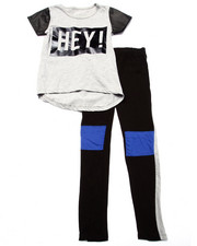 La Galleria - HEY! COLOR BLOCK LEGGINGS SET (7-16)