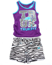 Sets - 2 PC ZEBRA TRUKFIT SHORT SET (4-6X)