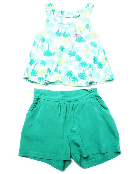2 pc set   floral top & soft shorts  2t 4t