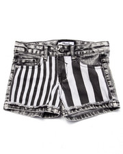 Girls - STRIPE PLAY DENIM & TWILL SHORTS (7-16)