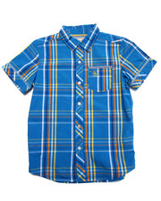 Button-downs - PLAID S/S WOVEN SHIRT (8-20)