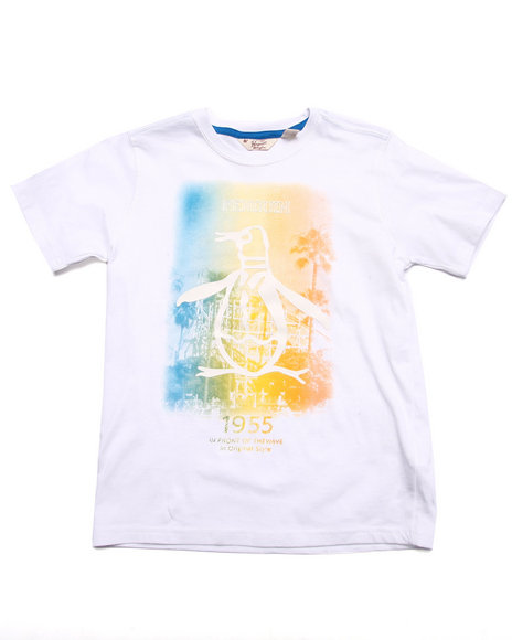 Original Penguin - Boys White Ombre Penguin Tee (8-20)