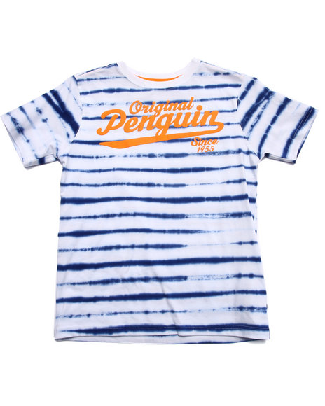 Original Penguin - Boys White Tie Dye Stripe Tee (8-20) - $11.99