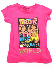Girls - TRUK DA WORLD TEE (7-16)