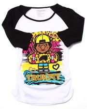 T-Shirts - LEOPARD LIL' TOMMY SKATER RAGLAN TEE (7-16)